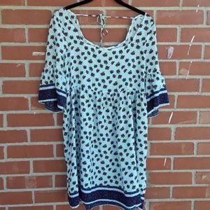 Umgee boho Bell sleeve swing dress size medium